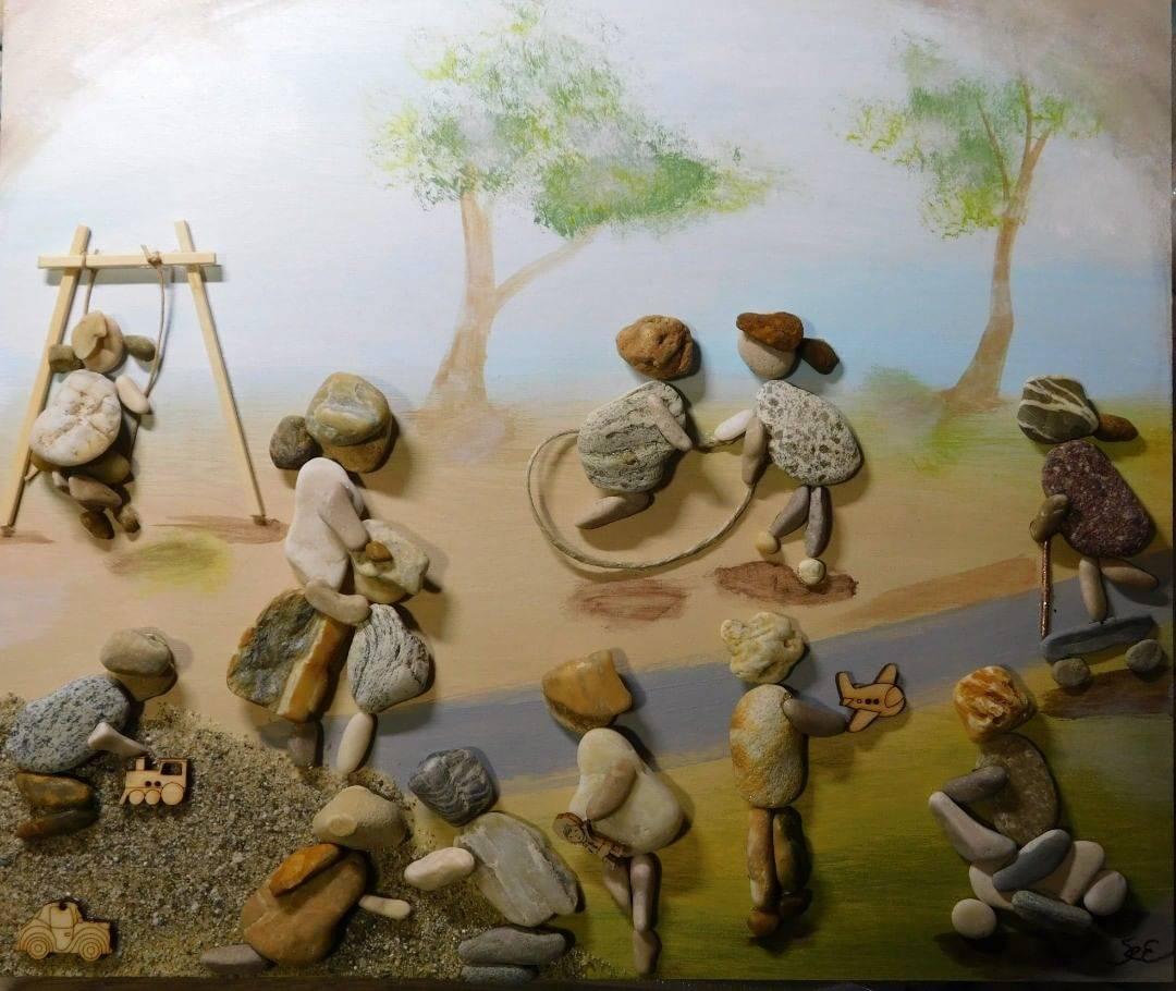 pebble art kids
