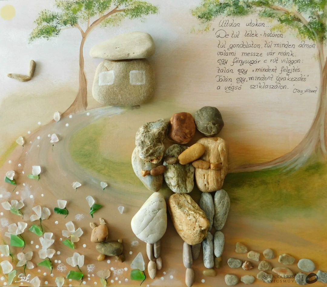 pebble art images