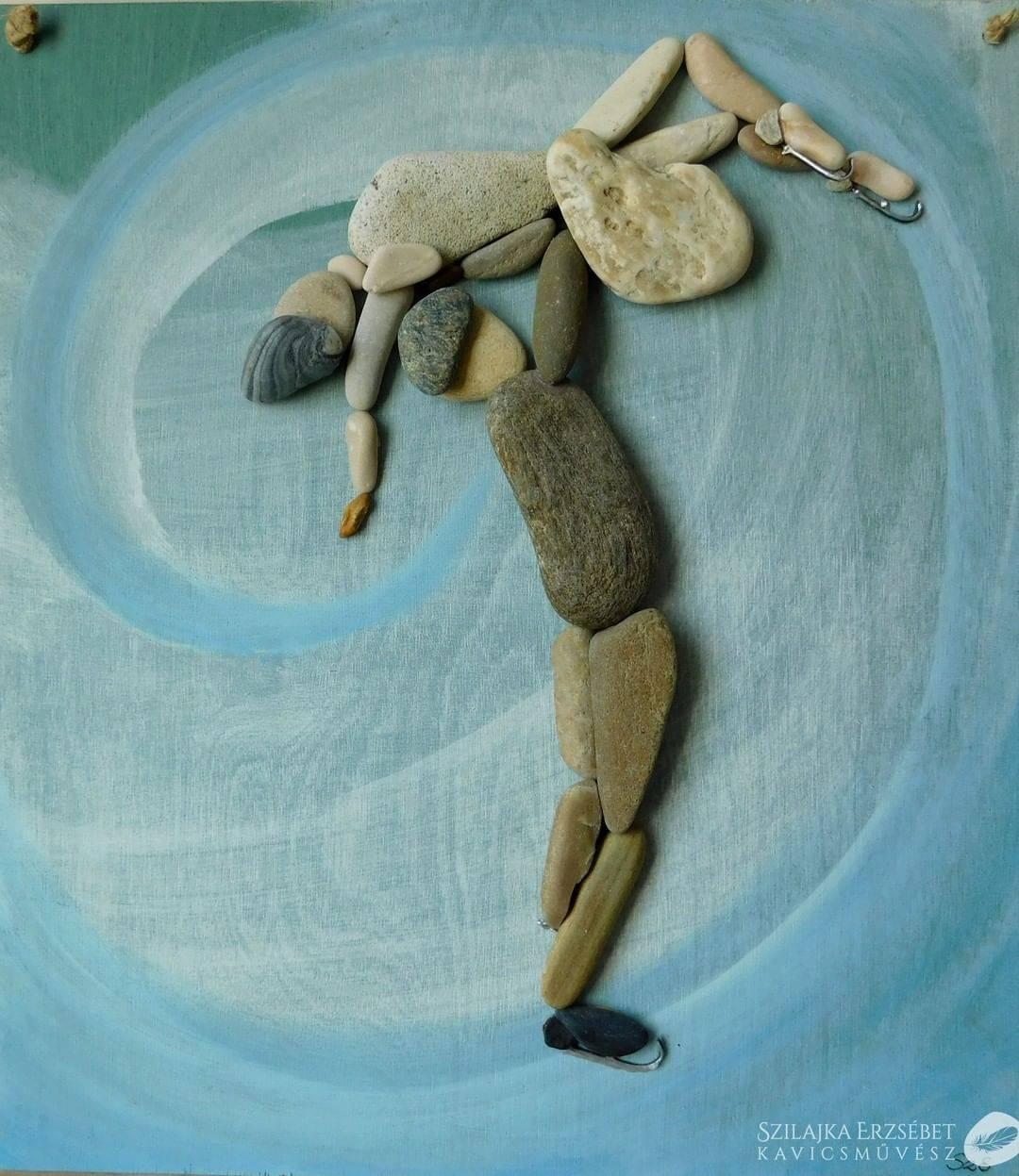 pebble art dancer